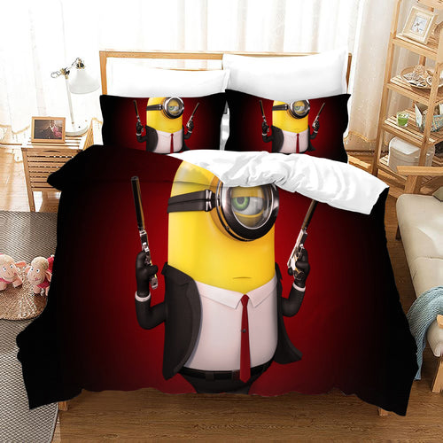 Despicable Me Minions #31 Duvet Cover Quilt Cover Pillowcase Bedding Set Bed Linen Home Decor