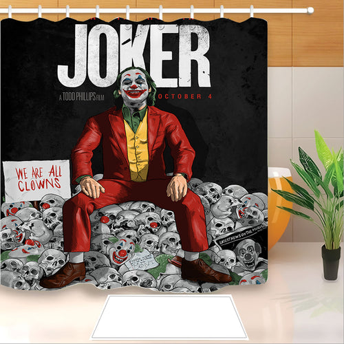 2019 Joker Arthur Fleck Clown #13 Shower Curtain Waterproof Bath Curtains Bathroom Decor With Hooks