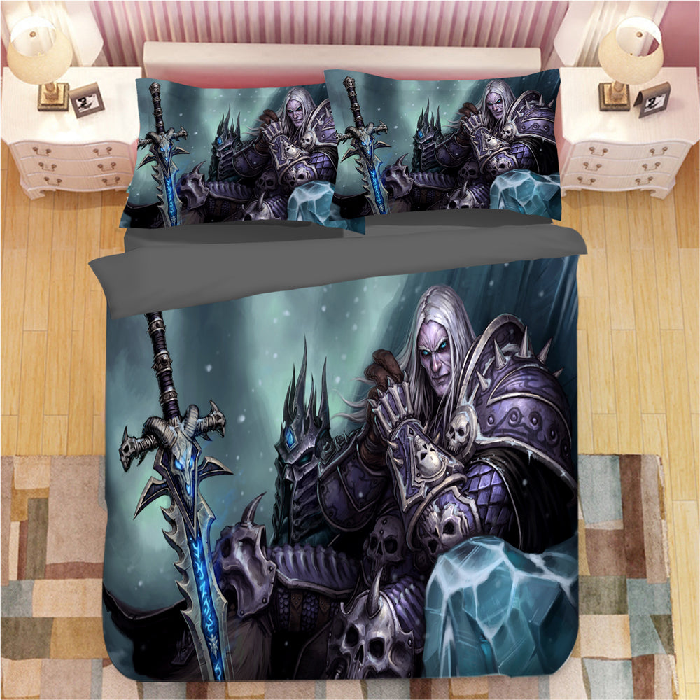 World of Warcraft WOW #7 Duvet Cover Quilt Cover Pillowcase Bedding Set Bed Linen Home Bedroom Decor