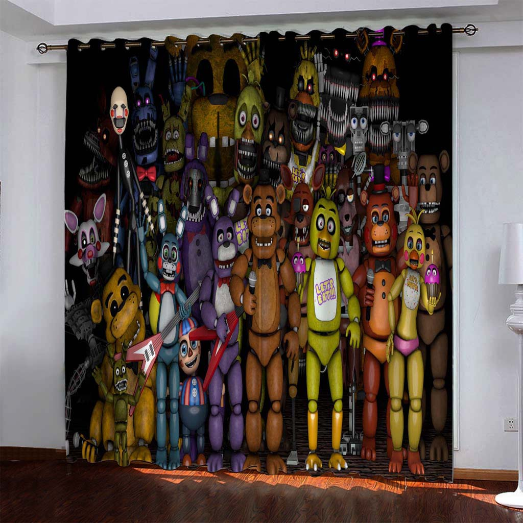 Five Nights At Freddy S 1 Blackout Curtain For Window Treatment Set F Bedding Picky
