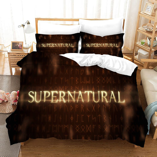 Supernatural Dean Sam Winchester #29 Duvet Cover Quilt Cover Pillowcase Bedding Set Bed Linen Home Decor