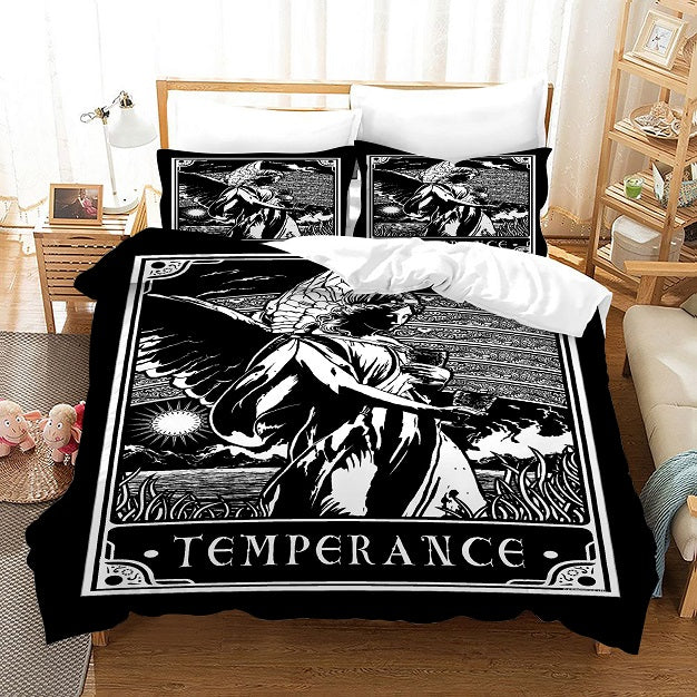 TAROT Temperance #20 Duvet Cover Quilt Cover Pillowcase Bedding Set Bed Linen Home Bedroom Decor