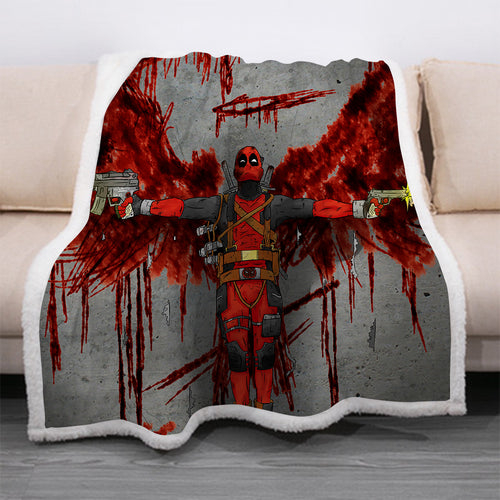 Deadpool #20 Blanket Super Soft Cozy Sherpa Fleece Throw Blanket for Men Boys
