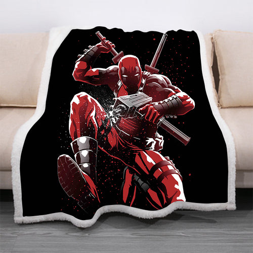 Deadpool #21 Blanket Super Soft Cozy Sherpa Fleece Throw Blanket for Men Boys