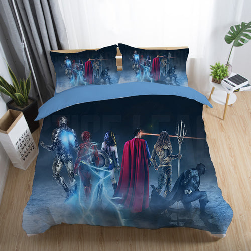 Justice League Wonder Woman Superman Batman The Flash Aquaman #21 Duvet Cover Quilt Cover Pillowcase Bedding Set Bed Linen Home Decor