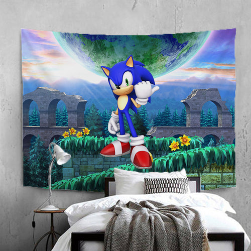 Sonic The Hedgehog #21 Wall Decor Hanging Tapestry Home Bedroom Living Room Decoration