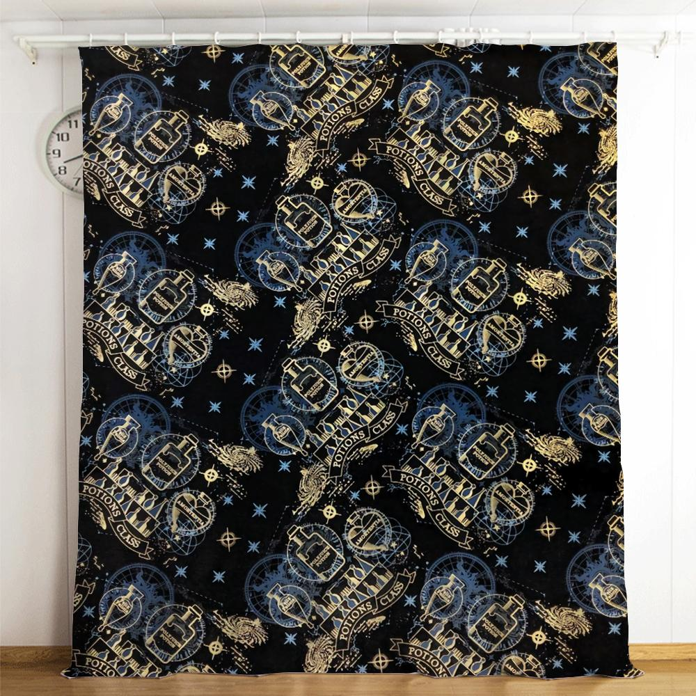 Harry Potter Galaxy Logo #21 Blackout Curtains For Window Treatment Set For Living Room Bedroom