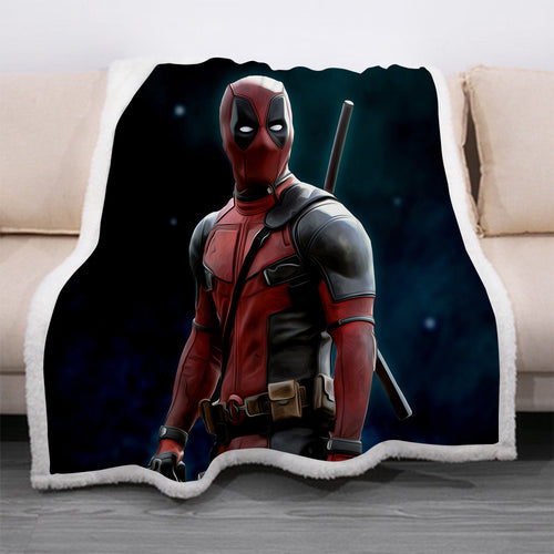 Deadpool #22 Blanket Super Soft Cozy Sherpa Fleece Throw Blanket for Men Boys