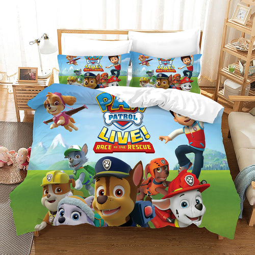 PAW Patrol Marshall #52 Duvet Cover Quilt Cover Pillowcase Bedding Set Bed Linen Home Decor