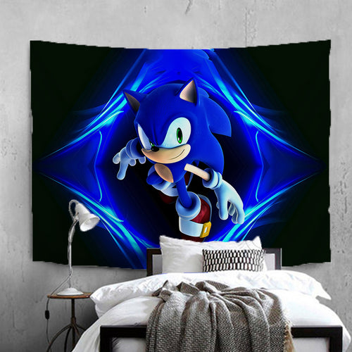 Sonic The Hedgehog #23 Wall Decor Hanging Tapestry Home Bedroom Living Room Decoration
