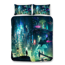 Load image into Gallery viewer, Cyberpunk 2077 #53 Duvet Cover Quilt Cover Pillowcase Bedding Set Bed Linen Home Bedroom Decor
