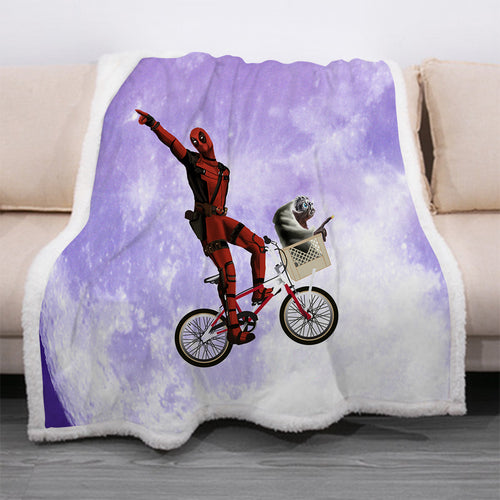 Deadpool #25 Blanket Super Soft Cozy Sherpa Fleece Throw Blanket for Men Boys