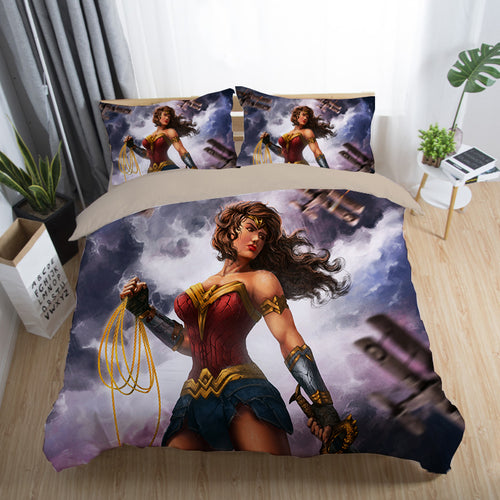 Justice League Wonder Woman Superman Batman The Flash Aquaman #25 Duvet Cover Quilt Cover Pillowcase Bedding Set Bed Linen Home Decor