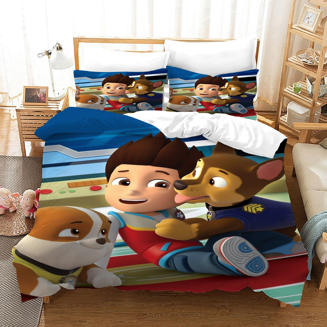 PAW Patrol Marshall #56 Duvet Cover Quilt Cover Pillowcase Bedding Set Bed Linen Home Decor