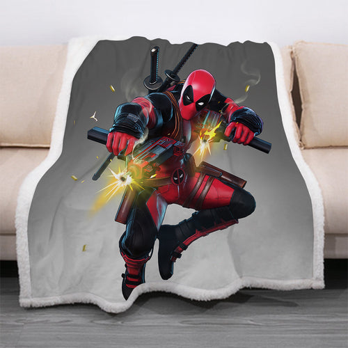Deadpool #26 Blanket Super Soft Cozy Sherpa Fleece Throw Blanket for Men Boys