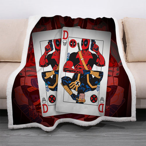 Deadpool #27 Blanket Super Soft Cozy Sherpa Fleece Throw Blanket for Men Boys