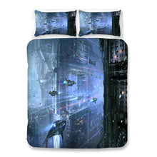 Load image into Gallery viewer, Cyberpunk 2077 #57 Duvet Cover Quilt Cover Pillowcase Bedding Set Bed Linen Home Bedroom Decor
