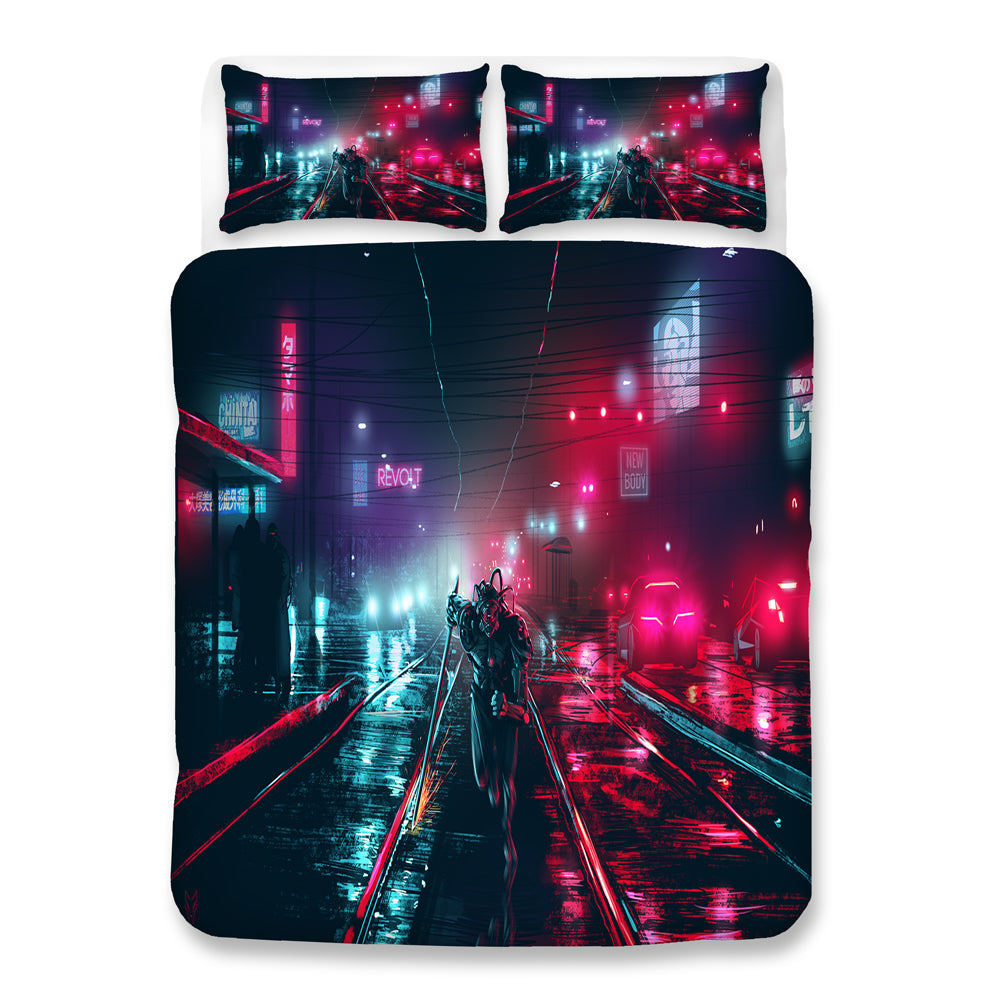 Cyberpunk 2077 #59 Duvet Cover Quilt Cover Pillowcase Bedding Set Bed Linen Home Bedroom Decor