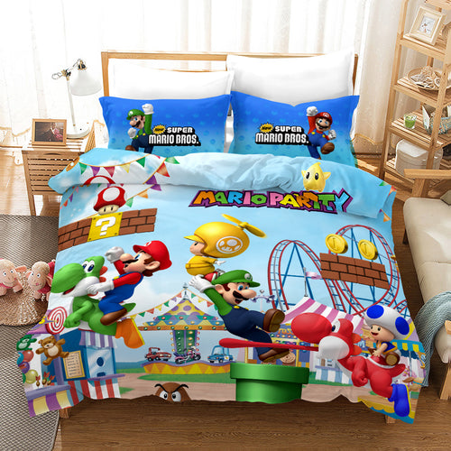 Super Smash Bros. Ultimate Mario #24 Duvet Cover Quilt Cover Pillowcase Bedding Set Bed Linen Home Bedroom Decor