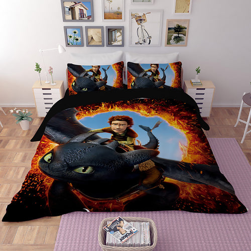 How to Train Your Dragon Hiccup #26 Duvet Cover Quilt Cover Pillowcase Bedding Set Bed Linen