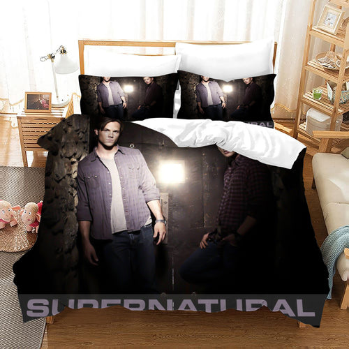 Supernatural Dean Sam Winchester #12 Duvet Cover Quilt Cover Pillowcase Bedding Set Bed Linen Home Decor