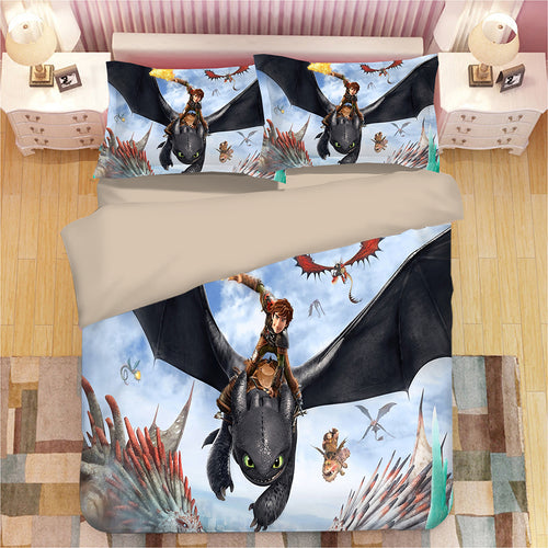 How to Train Your Dragon Hiccup #24 Duvet Cover Quilt Cover Pillowcase Bedding Set Bed Linen