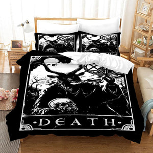 TAROT Death #2 Duvet Cover Quilt Cover Pillowcase Bedding Set Bed Linen Home Bedroom Decor
