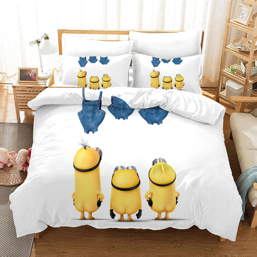 Despicable Me Minions #32 Duvet Cover Quilt Cover Pillowcase Bedding Set Bed Linen Home Decor