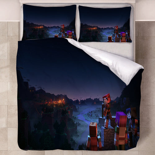Minecraft #32 Duvet Cover Quilt Cover Pillowcase Bedding Set Bed Linen Home Decor
