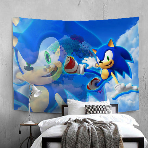Sonic The Hedgehog #2 Wall Decor Hanging Tapestry Home Bedroom Living Room Decorations
