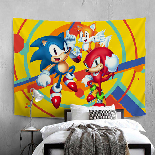 Mario Sonic Olympic Games #30 Wall Decor Hanging Tapestry Home Bedroom Living Room Decoration