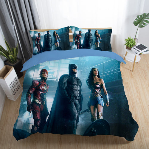 Justice League Wonder Woman Superman Batman The Flash Aquaman #30 Duvet Cover Quilt Cover Pillowcase Bedding Set Bed Linen Home Decor