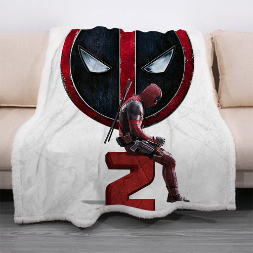 Deadpool #30 Blanket Super Soft Cozy Sherpa Fleece Throw Blanket for Men Boys
