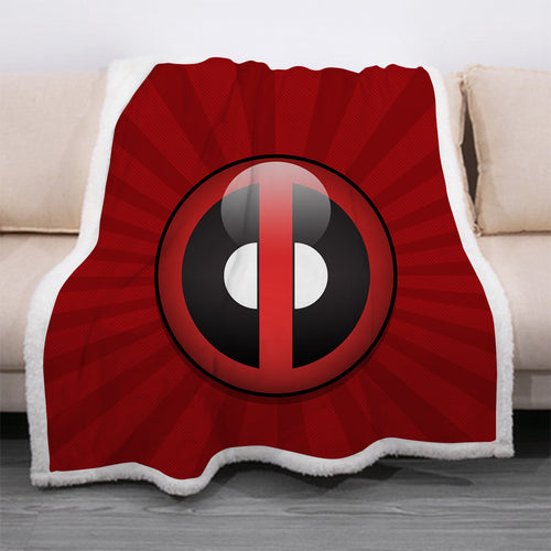 Deadpool #31 Blanket Super Soft Cozy Sherpa Fleece Throw Blanket for Men Boys