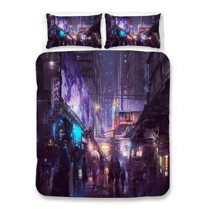Cyberpunk 2077 #64 Duvet Cover Quilt Cover Pillowcase Bedding Set Bed Linen Home Bedroom Decor