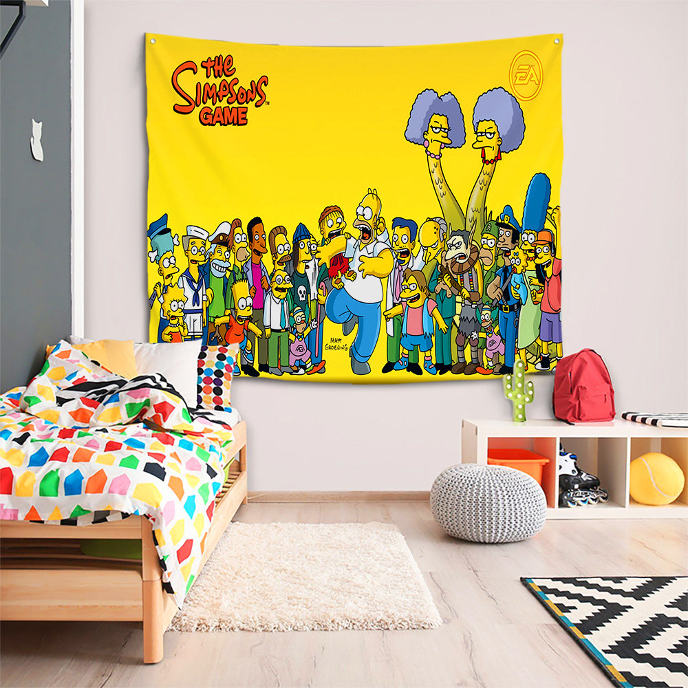 Anime The Simpsons Homer J. Simpson #35 Wall Decor Hanging Tapestry Home Bedroom Living Room Decoration