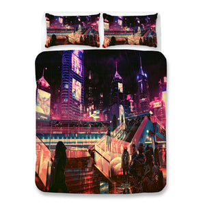 Cyberpunk 2077 #65 Duvet Cover Quilt Cover Pillowcase Bedding Set Bed Linen Home Bedroom Decor