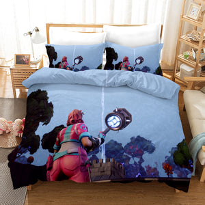 Fortnite Chapter2 Season 3 #32 Duvet Cover Quilt Cover Pillowcase Bedding Set Bed Linen Home Bedroom Decor