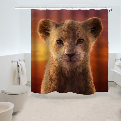 The Lion King Simba #12 Shower Curtain Waterproof Bath Curtains Bathroom Decor With Hooks