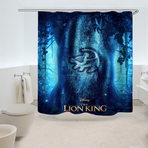 The Lion King Simba #6 Shower Curtain Waterproof Bath Curtains Bathroom Decor With Hooks