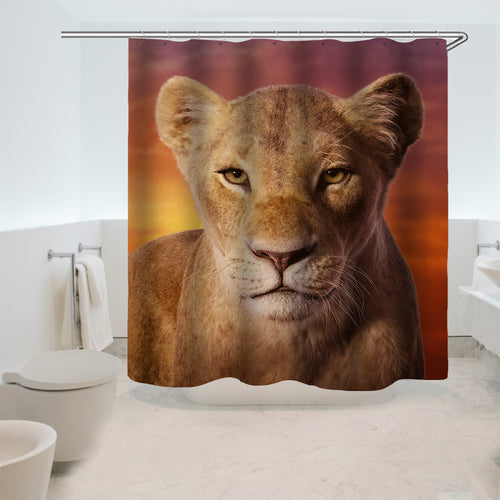 The Lion King Simba #16 Shower Curtain Waterproof Bath Curtains Bathroom Decor With Hooks