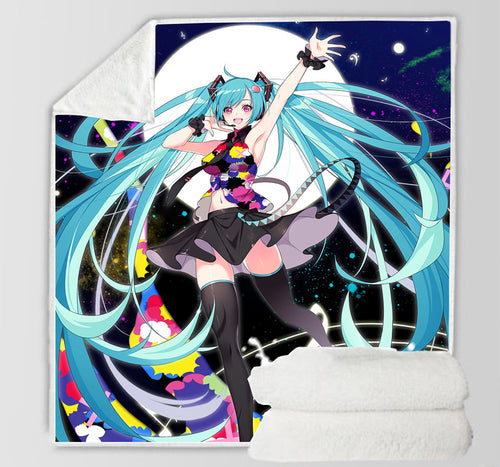 Hatsune Miku #15 Blanket Super Soft Cozy Sherpa Fleece Throw Blanket for Men Boys