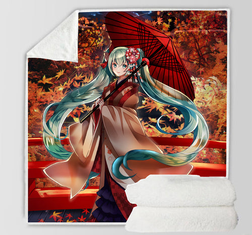 Hatsune Miku #21 Blanket Super Soft Cozy Sherpa Fleece Throw Blanket for Men Boys