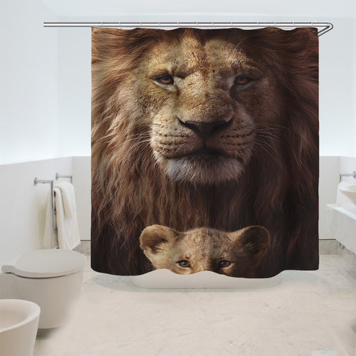 The Lion King Simba #17 Shower Curtain Waterproof Bath Curtains Bathroom Decor With Hooks