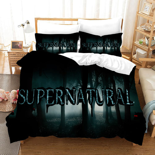 Supernatural Dean Sam Winchester #13 Duvet Cover Quilt Cover Pillowcase Bedding Set Bed Linen Home Decor