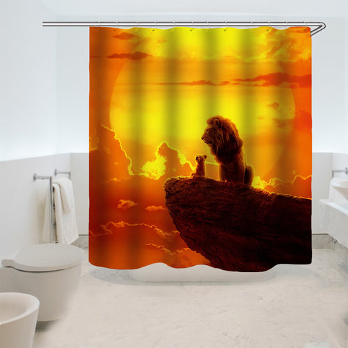 The Lion King Simba #9 Shower Curtain Waterproof Bath Curtains Bathroom Decor With Hooks