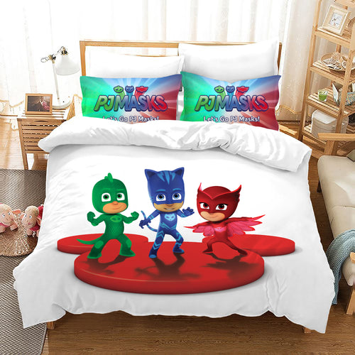 PJmasks #23 Duvet Cover Quilt Cover Pillowcase Bedding Set Bed Linen Home Decor