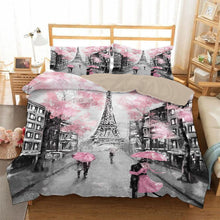 Load image into Gallery viewer, The Eiffel Tower La Tour Eiffel  #4 Duvet Cover Quilt Cover Pillowcase Bedding Set Bed Linen Home Bedroom Decor