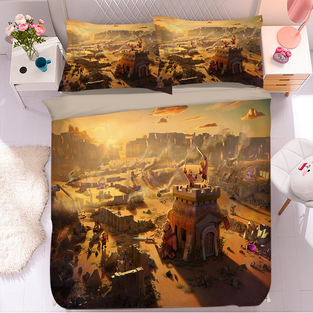 Clash of Clans #3 Duvet Cover Quilt Cover Pillowcase Bedding Set Bed Linen Home Bedroom Decor
