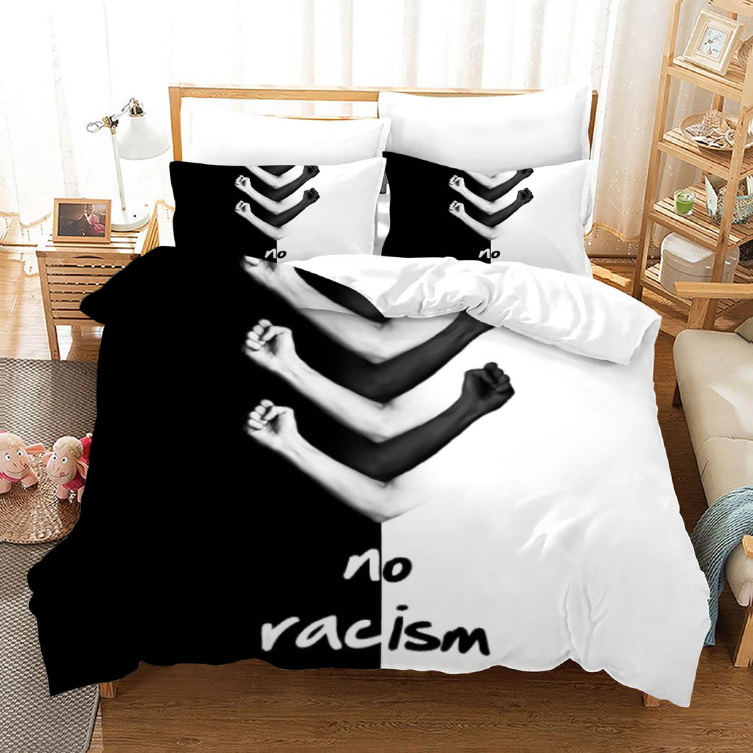 No Racism #3 Duvet Cover Quilt Cover Pillowcase Bedding Set Bed Linen Home Bedroom Decor